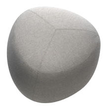 Furniture - Poufs & Floor Cushions - Kipu Small Pouf - 57 x 57 cm by Lapalma - Light Grey - Kvadrat fabric, Polyurethane foam