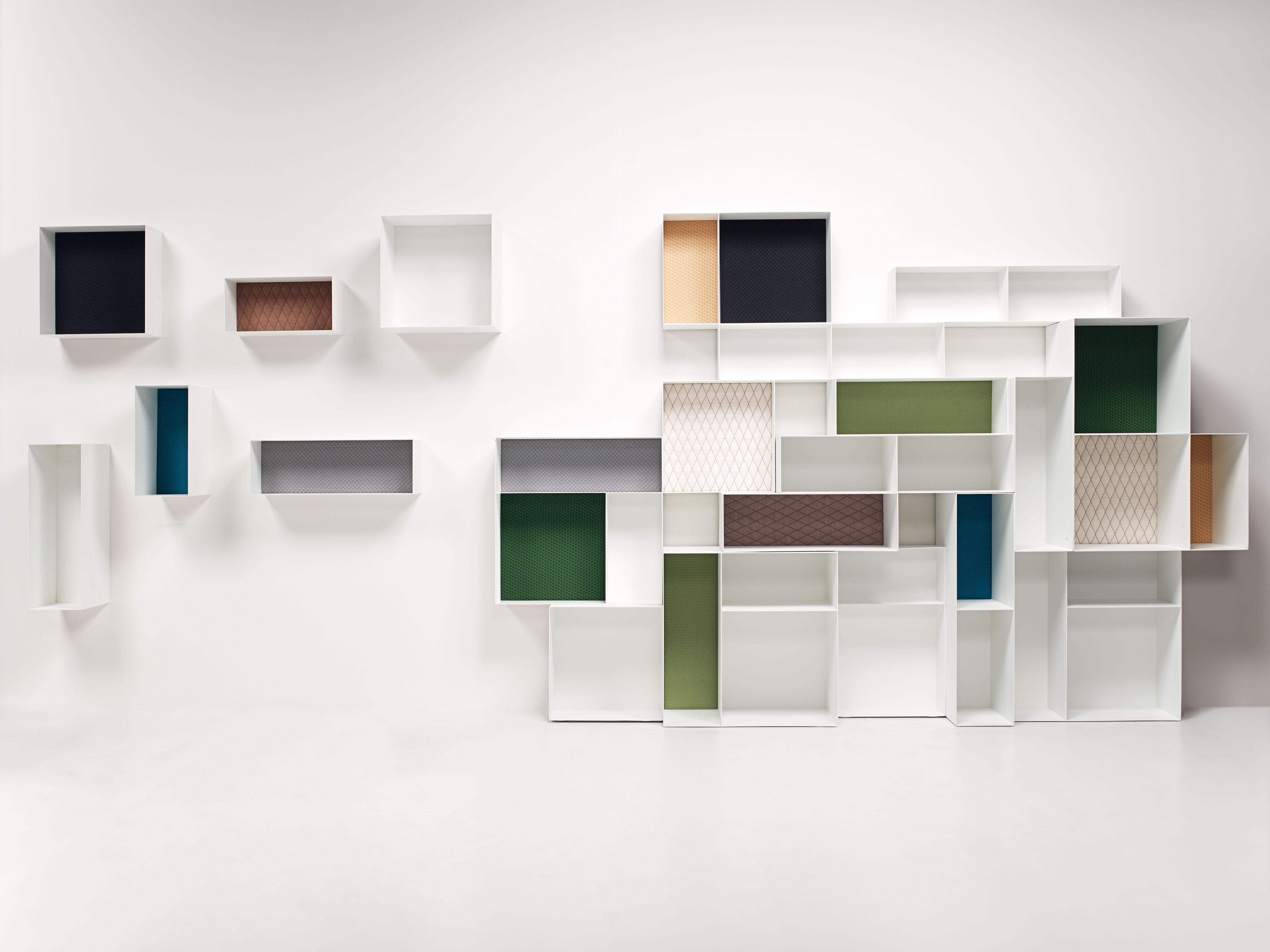 Möbel - Regale und Bücherregale - Alma Regal / Modul 60 x 20 cm - T 30 cm - Rückwand lackiert - Casamania - 60 x 20 cm - weiß / Rückwand beige - lackiertes Metall