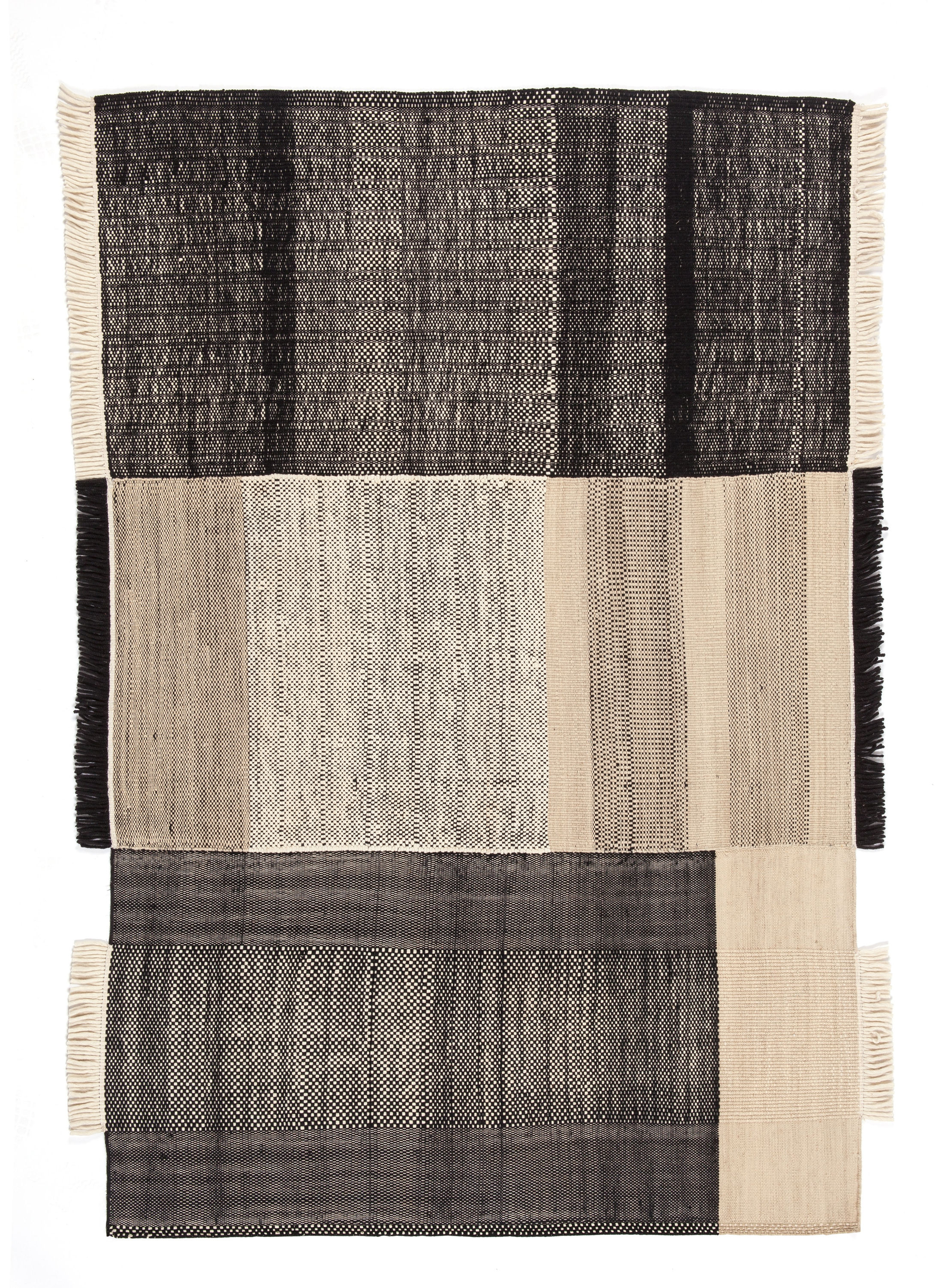 Decoration - Rugs - Tres Rug - 170 x 240 cm by Nanimarquina - Black - Cotton, Felt, New-zealand wool