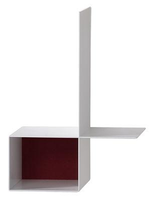 Arredamento - Scaffali e librerie - Scaffale Randomissimo - Module B - / Destra - L 34 cm di MDF Italia - Sinistra - Bianco opaco / Rosso - Fibra artificiale, Lamiera d'acciaio