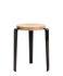 Lou Stackable stool - / H 45 cm - Steel & oak by TipToe