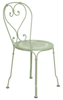 Furniture - Chairs - 1900 Stacking chair - Metal by Fermob - Willow green - Steel