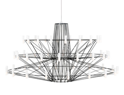 Suspension Coppélia Large / LED - Ø 101 x H 54 cm - Moooi noir en métal