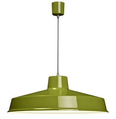 Luminaire - Suspensions - Suspension Fabrique - Ø 60 cm - Roger Pradier - Kaki - Aluminium, Porcelaine, Textile
