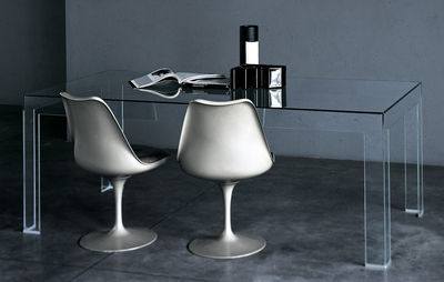 Back to school - Office furniture - Atlantis Table by Glas Italia - Rectangular top : 200 x 90 cm - Glass