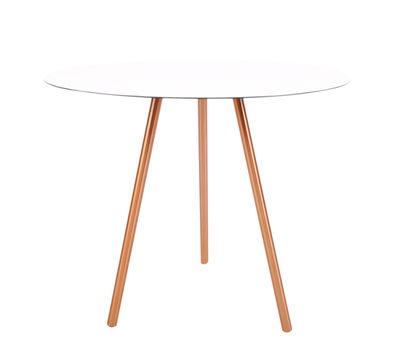 Table basse Elle / H 40,5 cm - XL Boom blanc/cuivre en métal