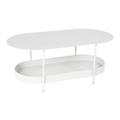 Mobilier - Tables basses - Table basse Salsa / 119 x 58 cm - Fermob - Blanc coton - Acier peinture poudre