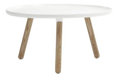 Table basse Tablo Large / Ø 78 cm - Normann Copenhagen blanc en matière plastique/bois