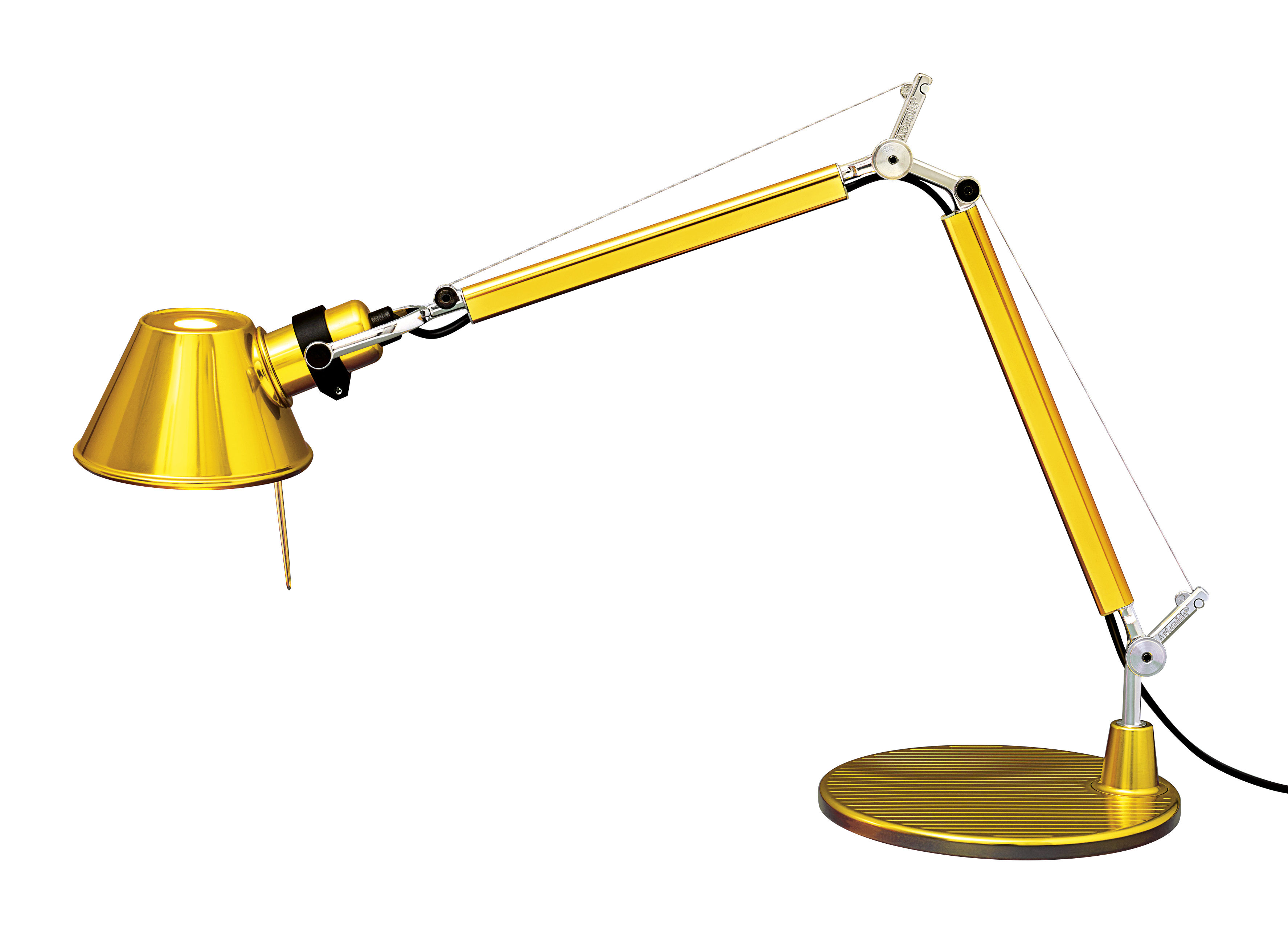 Lighting - Table Lamps - Tolomeo Micro Gold Table lamp - / LED - Limited issue by Artemide - Gold - Aluminium