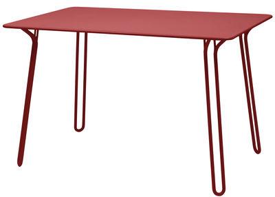 Table Surprising / 120 x 78 cm - Fermob piment en métal
