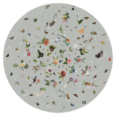 Dekoration - Teppiche - Garden of Eden Teppich / Ø 350 cm - Moooi Carpets - Grau - Polyamid