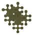 Molécules Teppich / 6-teilig - uni - La Corbeille