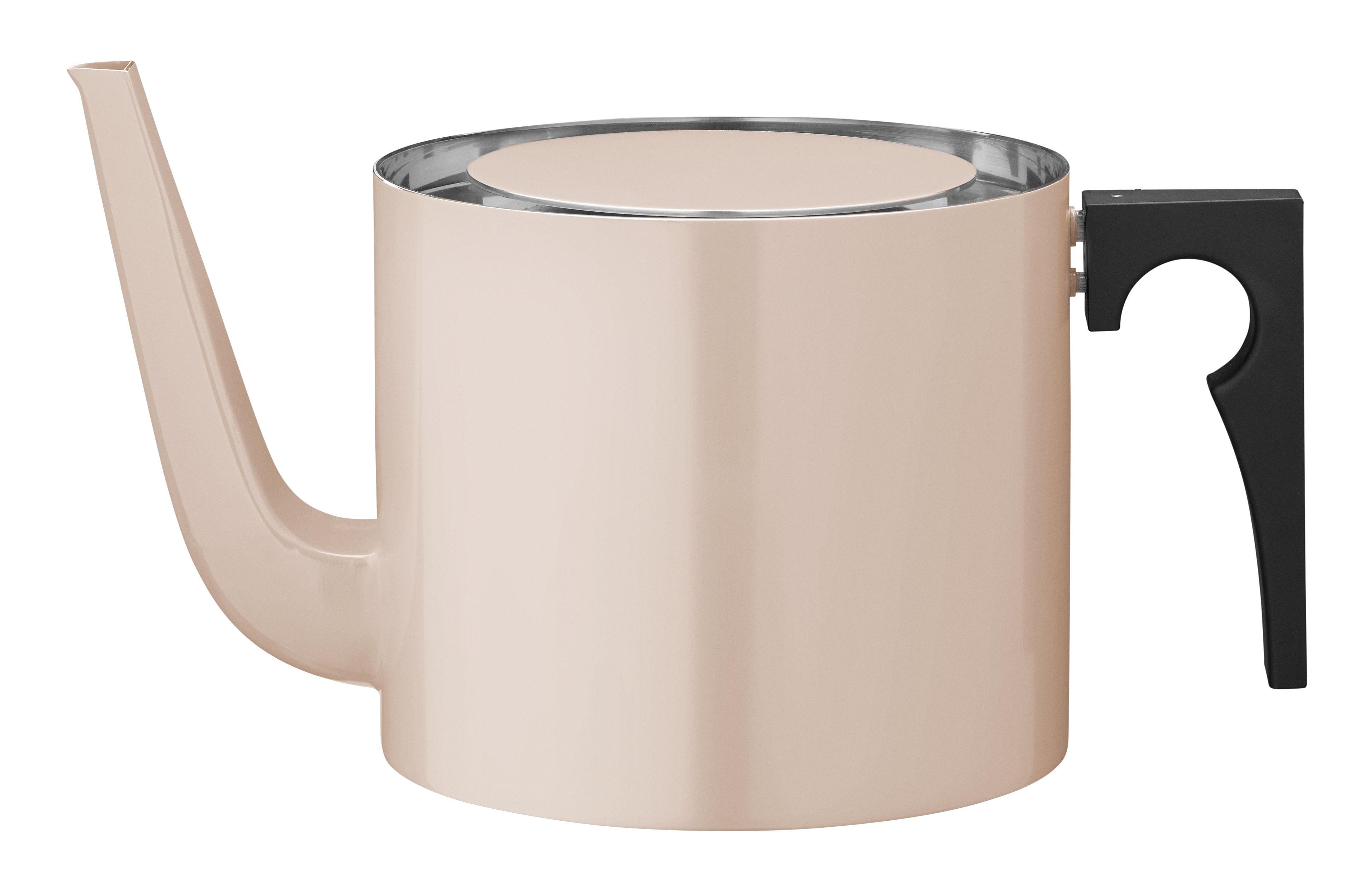 Arts de la table - Thé et café - Théière Cylinda-Line / 1,25 L - Arne Jacobsen, 1967 - Stelton - Rose poudré - Acier inoxydable émaillé, Bakélite