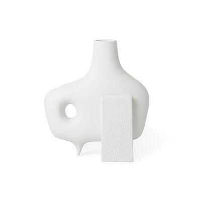 Decoration - Vases - Paradox Medium Vase - / Porcelain - H 25 cm by Jonathan Adler - Medium / Matt white - China