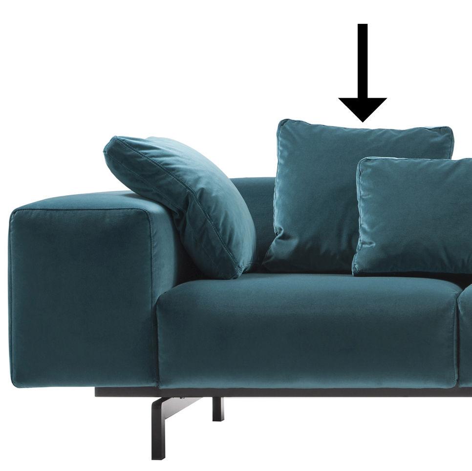 Accessorio divano kartell velluto blu anatra made in for Divano velluto blu