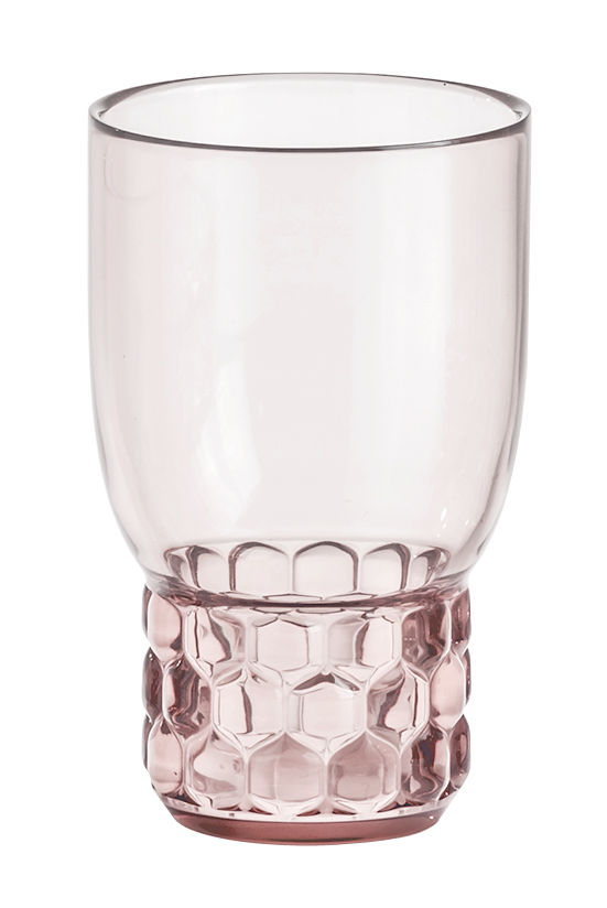 Arts de la table - Verres  - Verre Jellies Family / Medium - H 13 cm - Kartell - Rose - PMMA