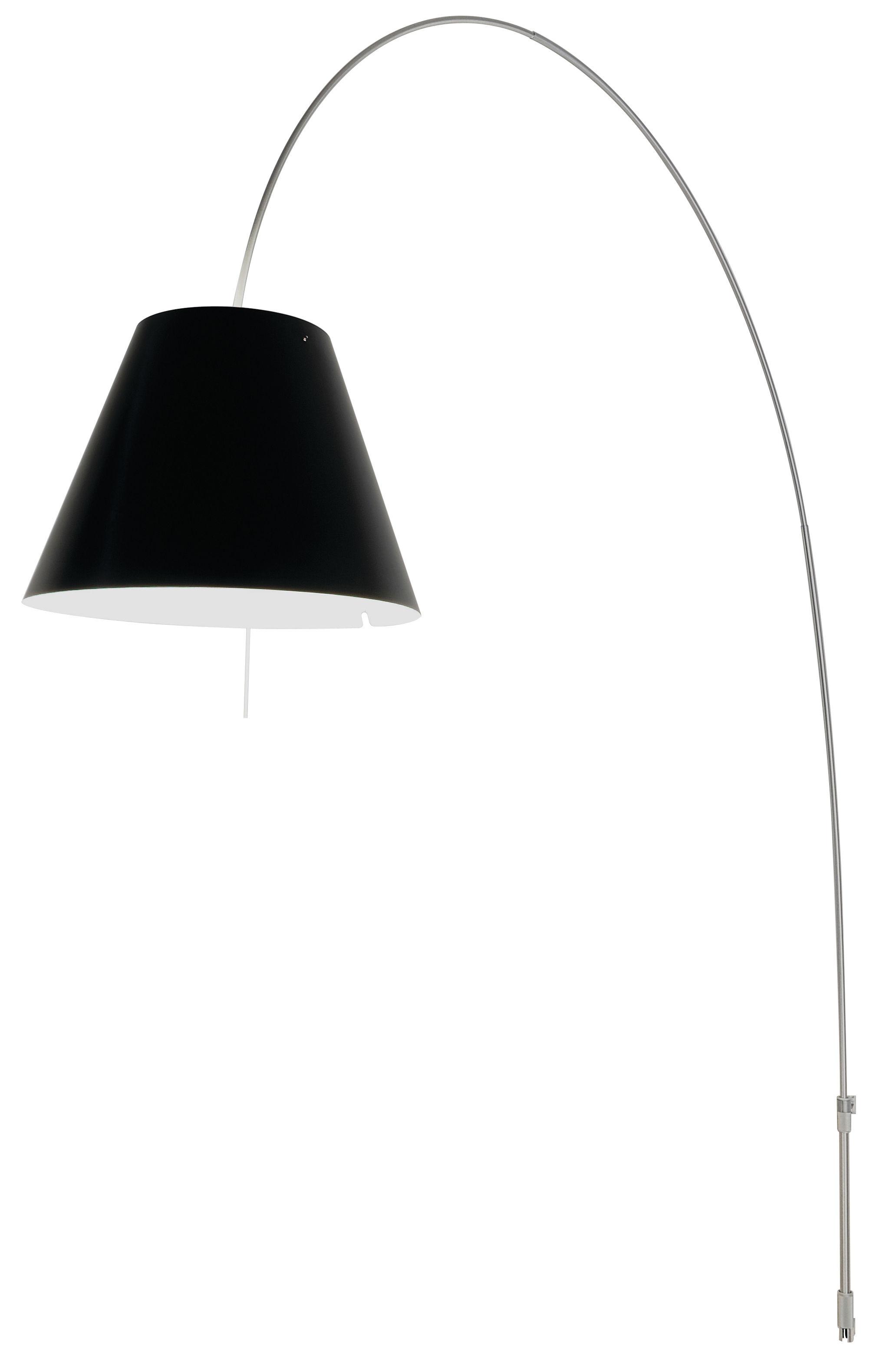 Leuchten - Stehleuchten - Lady Costanza Wandleuchte mit Stromkabel Wandbefestigung - Luceplan - Lampenschirm rot - Aluminium - Aluminium, Polykarbonat