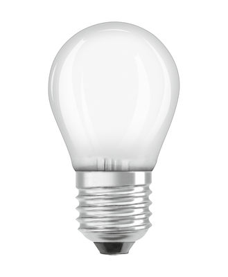 Ampoule LED E27 dimmable / Sphérique dépolie - 5W=40W (2700K, blanc chaud) - Osram blanc en verre