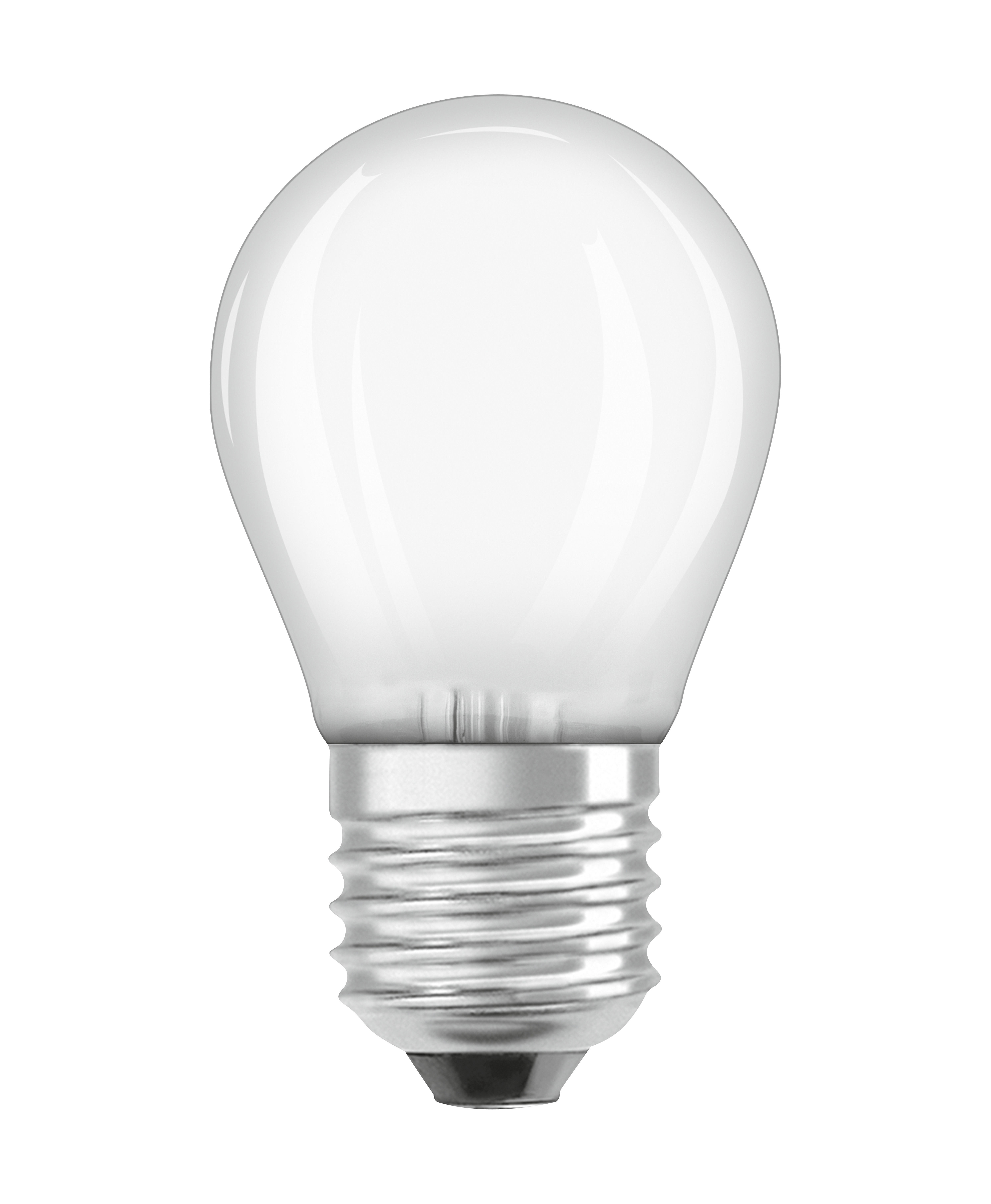 Luminaire - Ampoules et accessoires - Ampoule LED E27 dimmable / Sphérique dépolie - 5W=40W (2700K, blanc chaud) - Osram - 5W=40W - Verre
