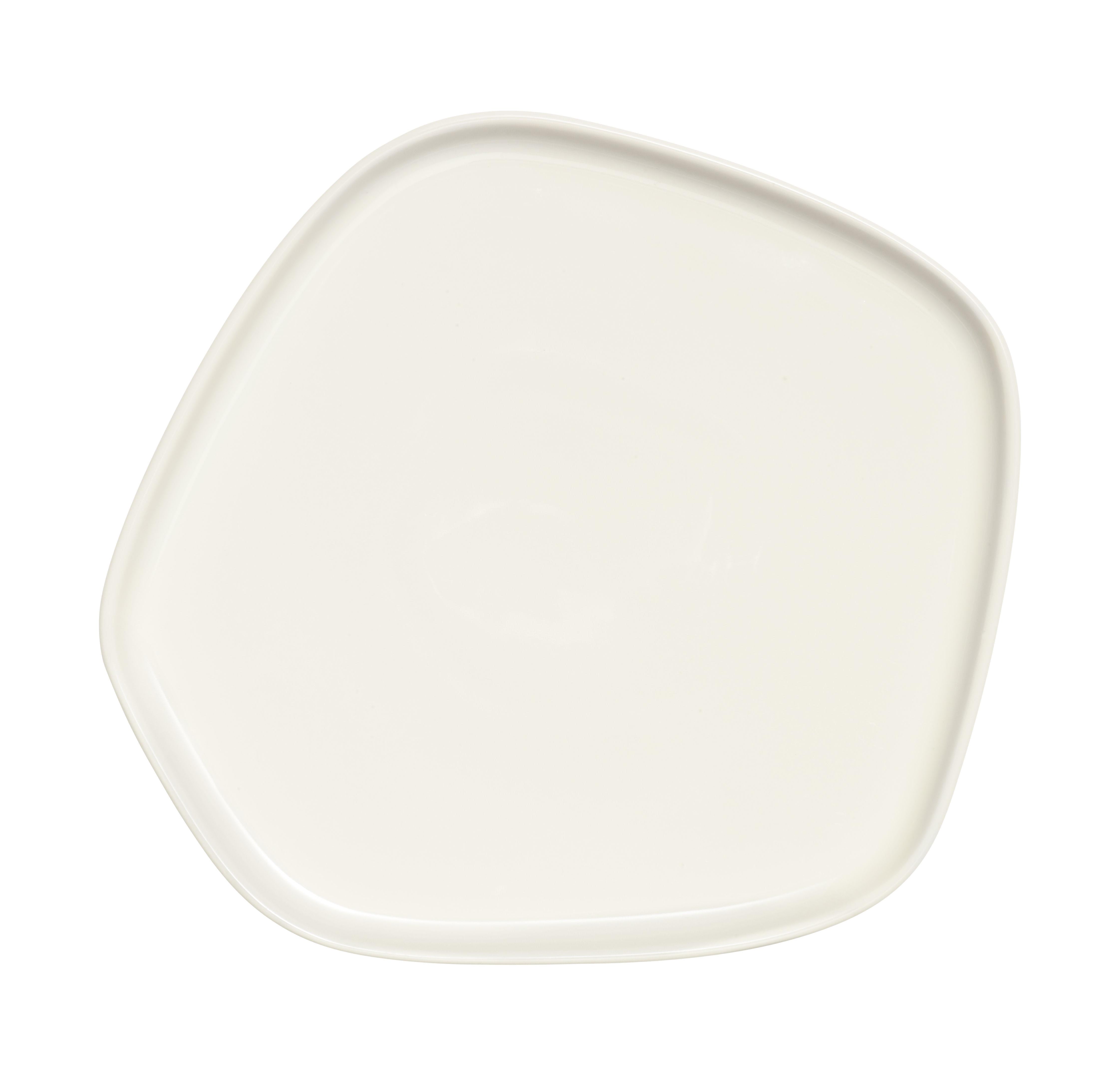 Arts de la table - Assiettes - Assiette Iittala X Issey Miyake / 21 x 20 cm - Iittala - Blanc - Porcelaine