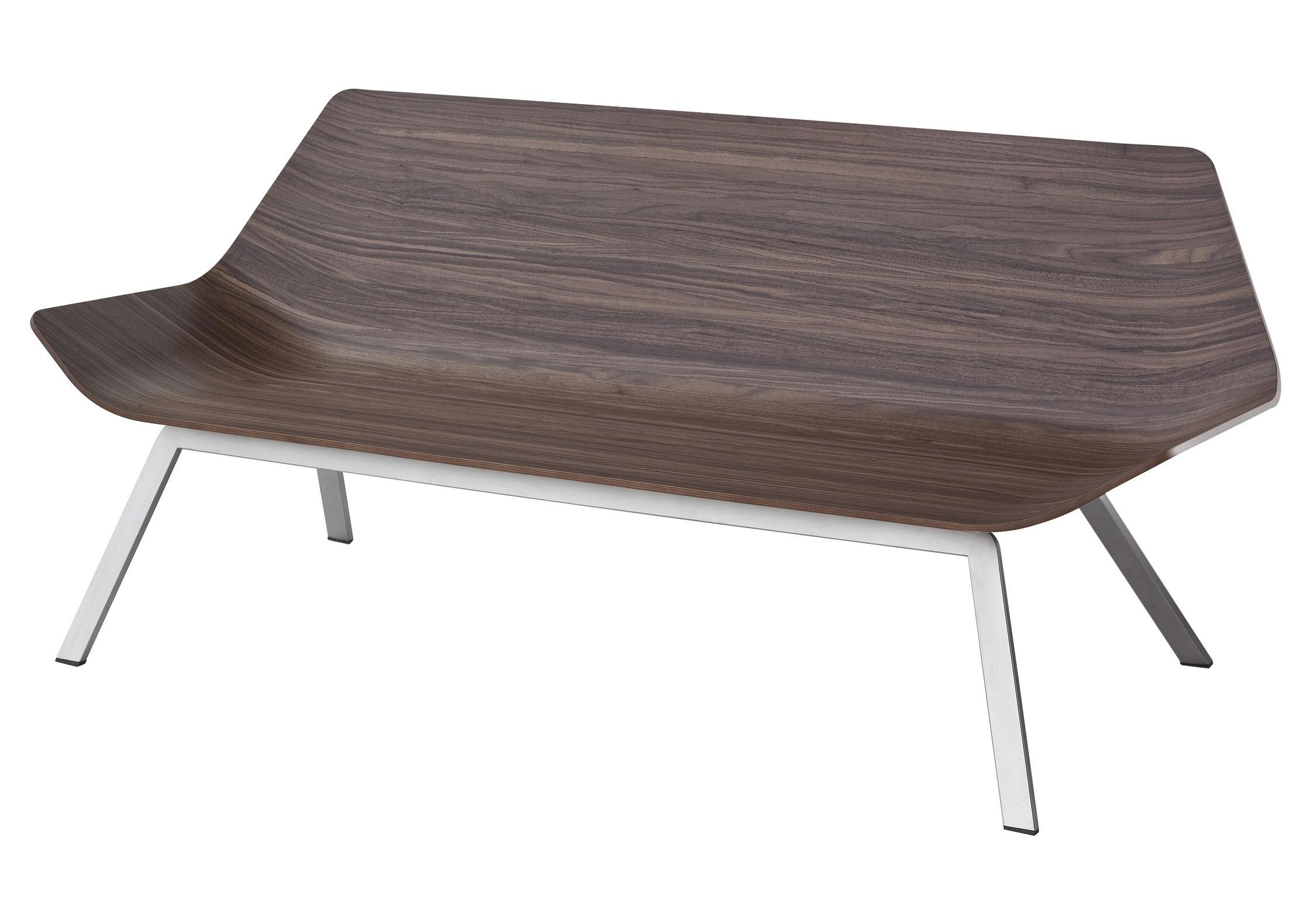 Furniture - Benches - Otium Bench by Lapalma - Walnut - Sandy stainless steel, Walnut