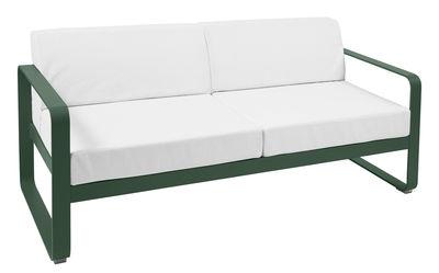 Canapé droit Bellevie 2 places L 160 cm Tissu blanc Fermob blanc,cèdre en métal