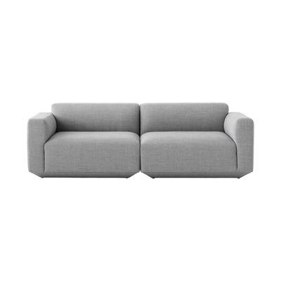 Mobilier - Canapés - Canapé droit Develius A / 3 places - L 220 cm - &tradition - Gris (Tissu Fiord) - Bois, Mousse HR, Tissu Fiord