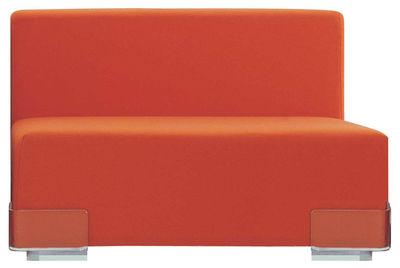 Mobilier - Canapés - Canapé modulable Plastics / Module sans accoudoirs - L 90 cm - Kartell - Orange - Polycarbonate, Polyuréthane