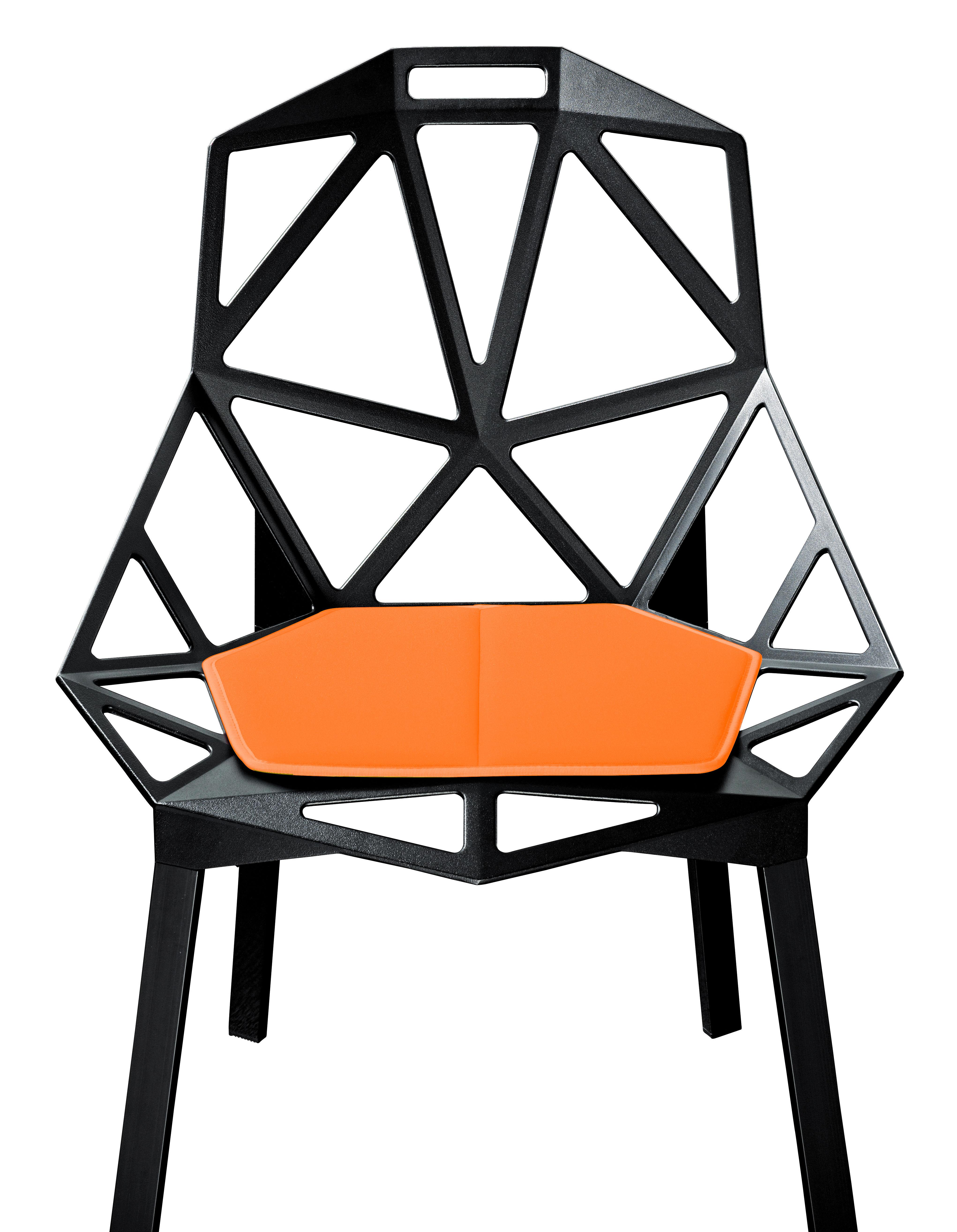 Déco - Coussins - Coussin d'assise / Pour Chair One - Magis - Orange - Polyuréthane
