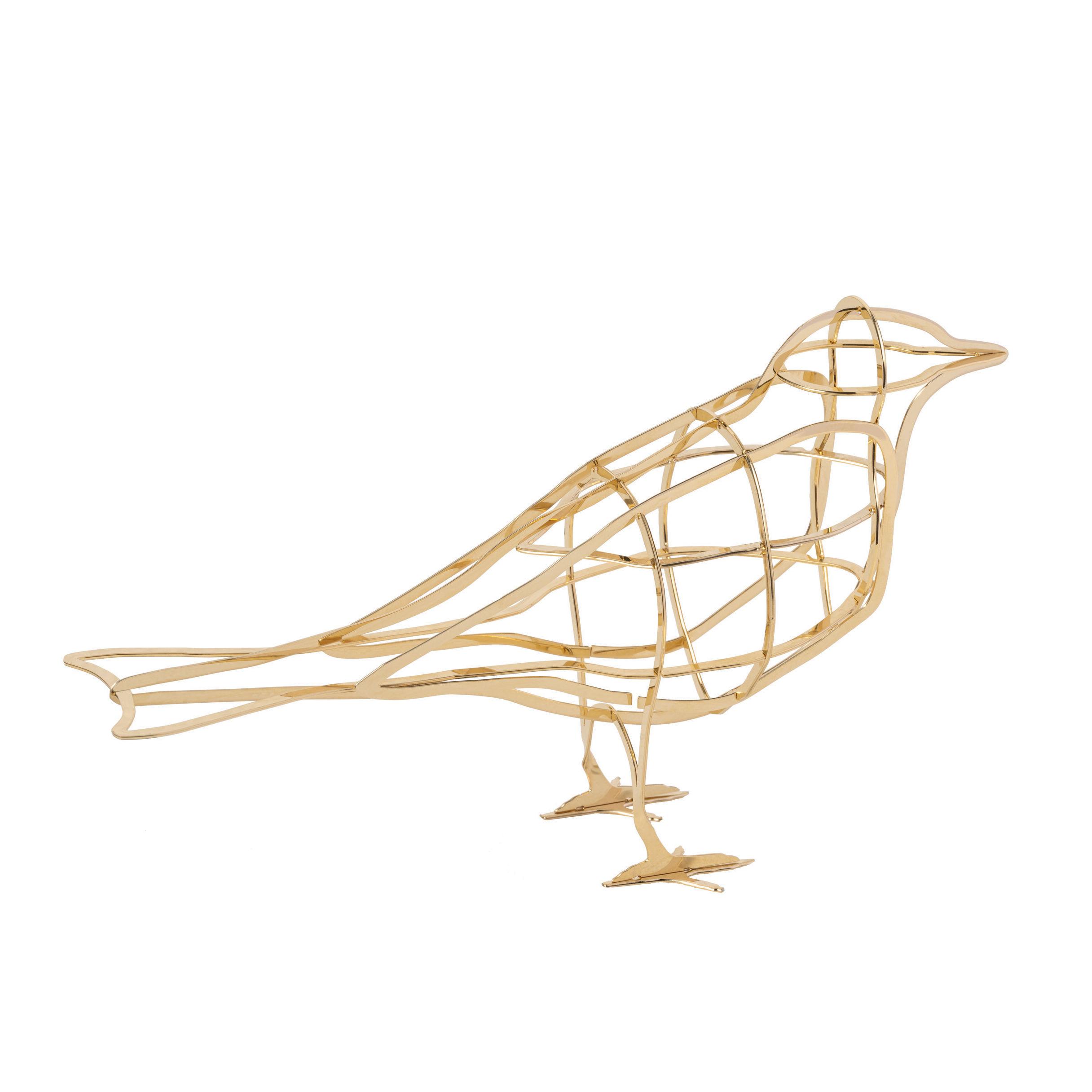 Déco - Objets déco et cadres-photos - Décoration De l'Aube / Oiseau en métal - Ibride - De l'Aube / Or - Métal galvanisé or