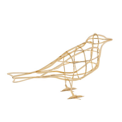 Decoration - Home Accessories - De l'Aube Decoration - / Metal bird by Ibride - From Dawn / Gold - Gold galvanised metal