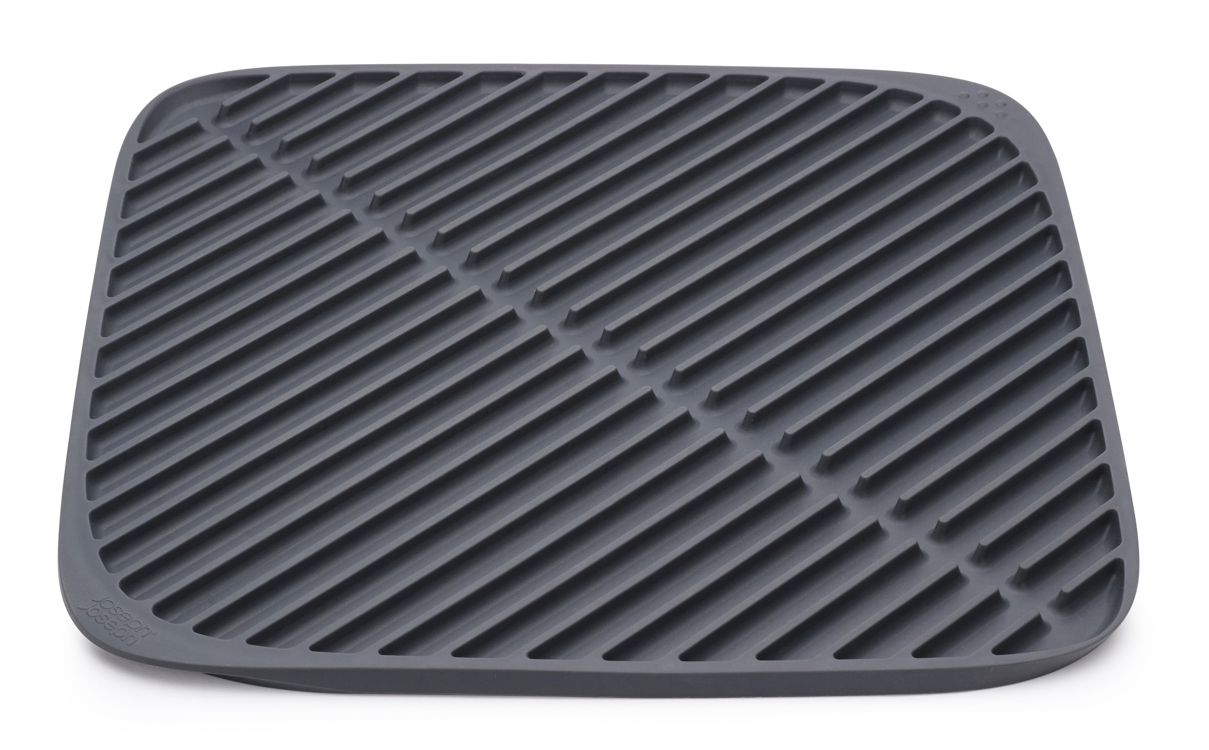 Kitchenware - Kitchen Sink Accessories - Flume Draining mat - Strainer - New version by Joseph Joseph - Grey - Flexible silicone, Rubber