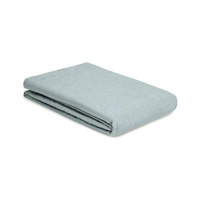 Decoration - Bedding & Bath Towels - Flat sheet 270 x 310 cm - / 270 x 310 cm - Washed linen by Au Printemps Paris - Grey blue - washed linen