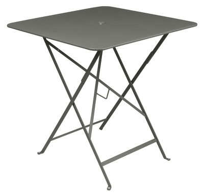 Outdoor - Garden Tables - Bistro Foldable table - 71 x 71 cm - Foldable - With umbrella hole by Fermob - Rosemary - Lacquered steel