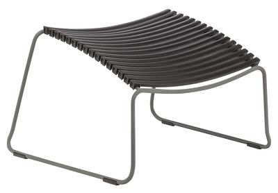 Furniture - Poufs & Floor Cushions - Click Footrest by Houe - Black - Epoxy lacquered metal, Plastic material