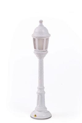 Lampada senza fili Street Lamp Outdoor - / H 42 cm - Ricarica USB di Seletti - Bianco - Materiale plastico