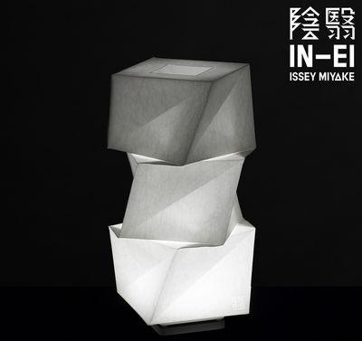 Luminaire - Lampes de table - Lampe de table IN-EI Mogura Mini LED / H 43 cm - Artemide - H 43 cm / Blanc - Aluminium, Fibre PET