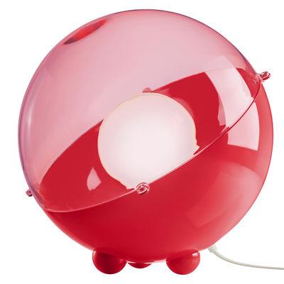 Luminaire - Lampes de table - Lampe de table Orion / Ø 33 cm - Koziol - Rouge opaque/ rouge transparent - Polystyrène