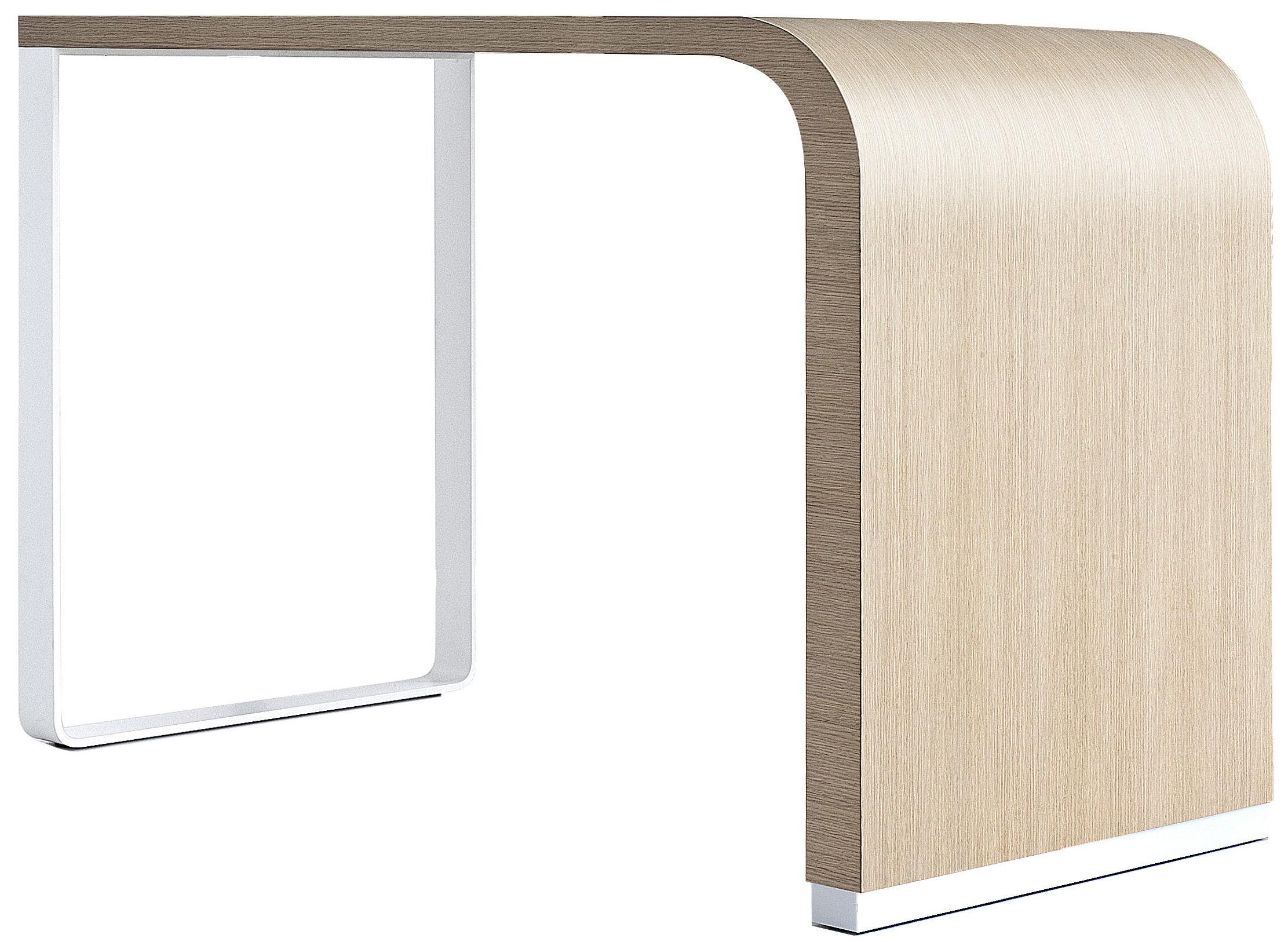 Mobilier - Mange-debout et bars - Mange-debout Brunch / Comptoir - L 140 - H 90 cm - Lapalma - Chêne blanchi / Structure chrome - Aluminium chromé, Contreplaqué de bois
