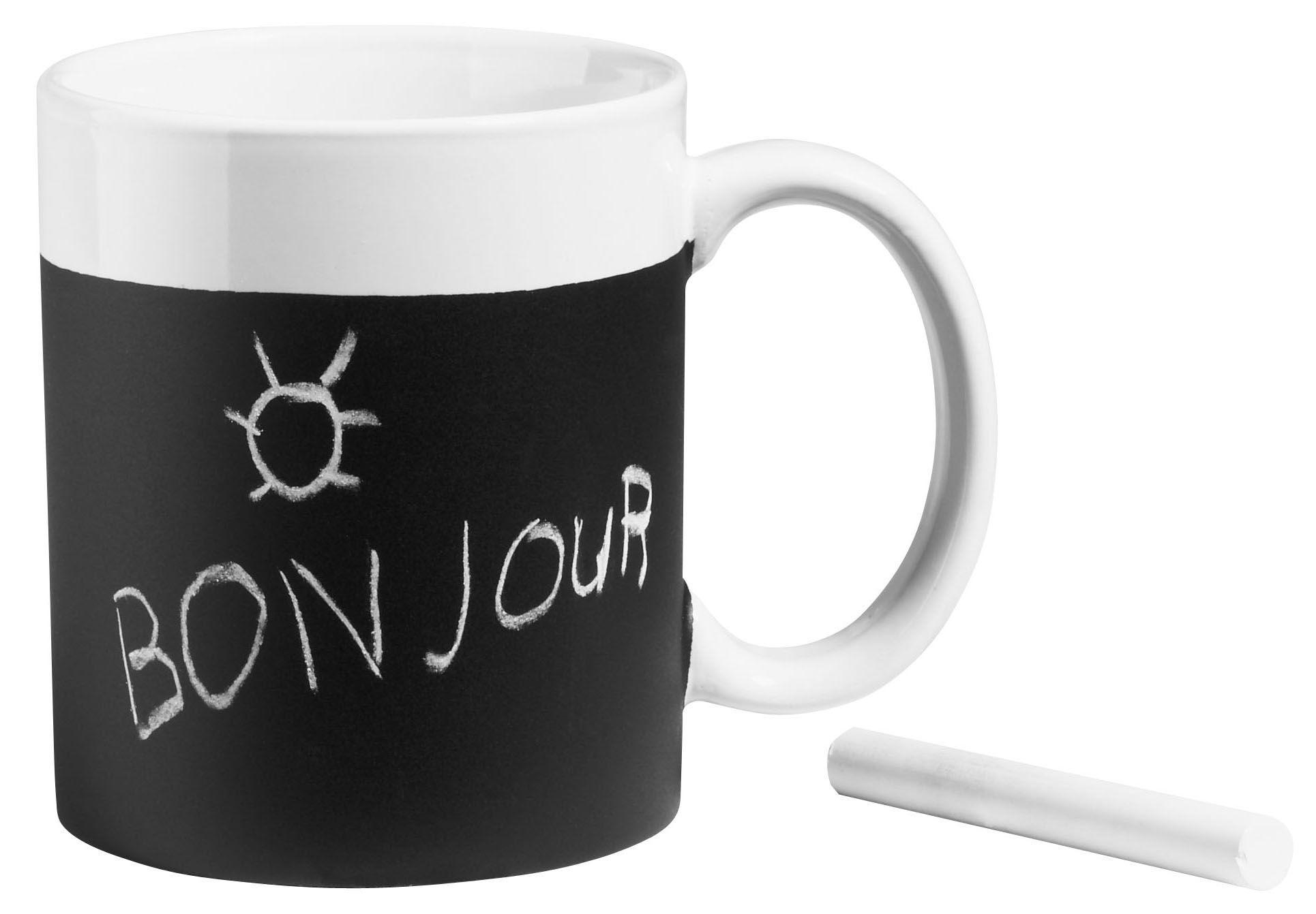 Déco - Tendance humour & décalage - Mug Ardoise ardoise - Virages - Noir - Ardoise, Céramique