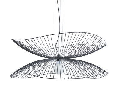 Lighting - Pendant Lighting - Libellule Large Pendant - / Ø 100 x H 40 cm by Forestier - Black - Lacquered wire