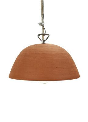 Lighting - Pendant Lighting - Terra Pendant - / Terre cuite - Ø 22 x H 13 cm by Serax - Terracotta - Terracotta