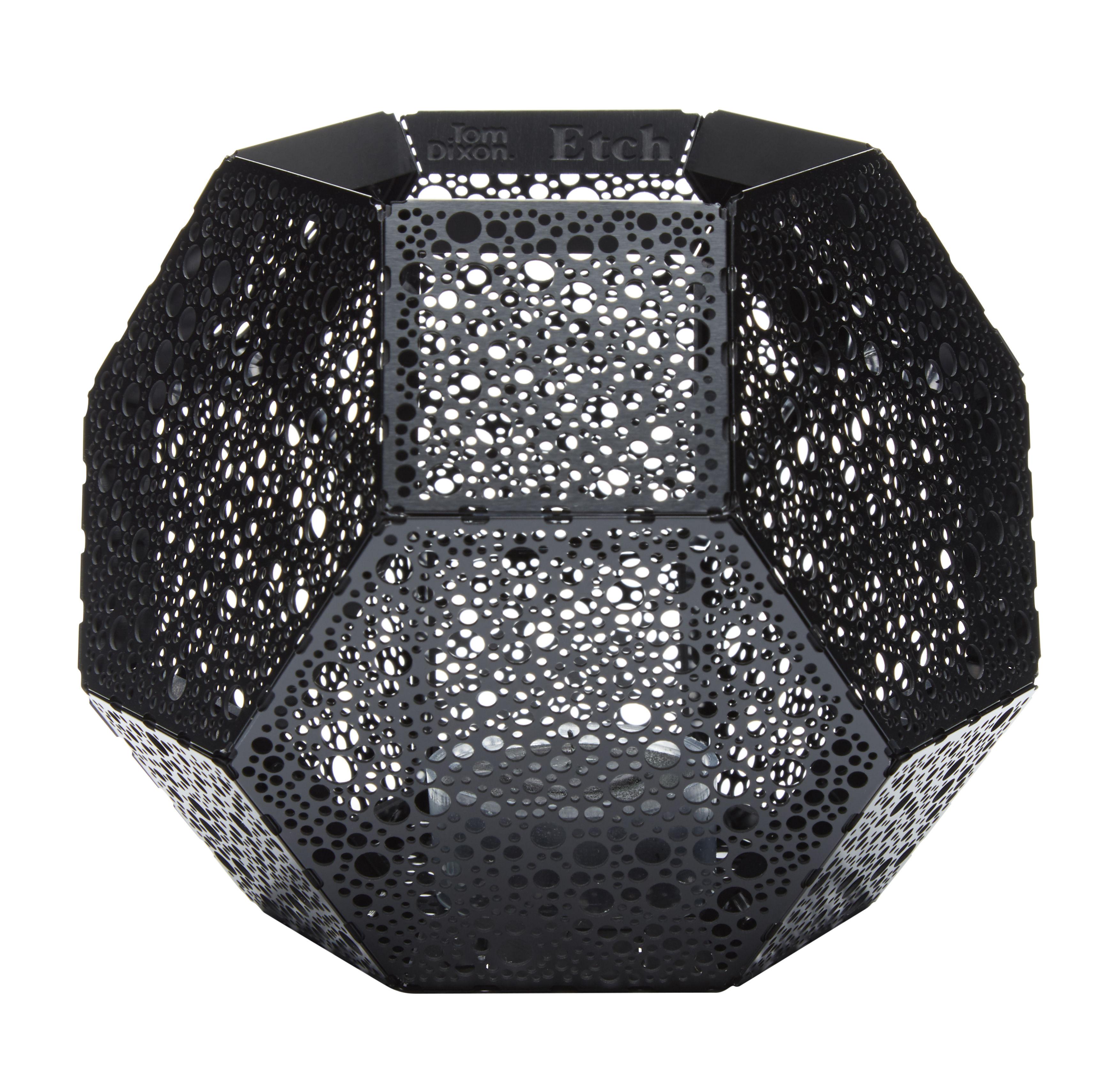 Déco - Bougeoirs, photophores - Photophore Etch - Tom Dixon - Noir - Aluminium anodisé
