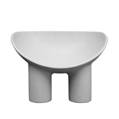 Arredamento - Poltrone design  - Poltrona Roly Poly - / Polietilene di Driade - Cemento - Polietilene
