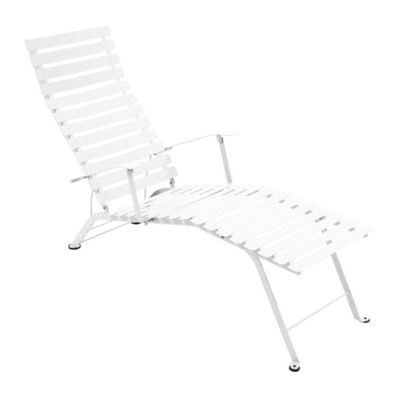 Outdoor - Sun Loungers & Hammocks - Bistro Reclining chair by Fermob - White - Lacquered steel