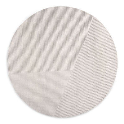 Decoration - Rugs - Row Rug - / Ø 200 cm by Northern  - Light grey - New-zealand wool