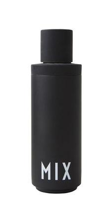Arts de la table - Bar, vin, apéritif - Shaker Arne Jacobsen / Pour cocktail - 0,5 L - Design Letters - Noir / Inscription blanche - Acier inoxydable, Silicone