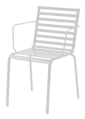 Furniture - Chairs - Striped Stackable armchair - Plastic by Magis - White - Polyamide, Varnished steel