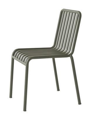 Möbel - Stühle  - Palissade Stapelbarer Stuhl / R & E Bouroullec - Hay - Olivgrün - Galvanisch verzinkten Stahl, Peinture époxy