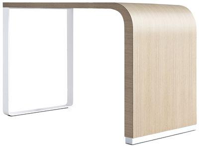 Möbel - Stehtische und Bars - Brunch Stehtisch / Tresen - L 140 x H 90 cm - Lapalma - Eiche gebleicht / Gestell chrom (matt) - Sperrholz, verchromtes Aluminium